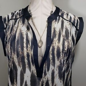 a.n.a Tops - Women's Sheer Tunic Top